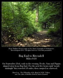 Bag End To Rivendell Miles 0-18 - Belfairs Wood 2, Leigh on the Sea, Essex, Nothingtosee Movealongnow