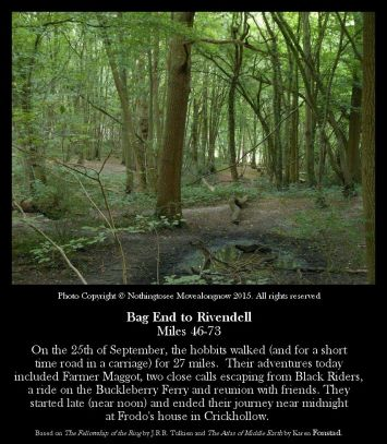 Bag End To Rivendell Miles 46-73 - Crickhollow Woods - Nothingtosee Movealongnow