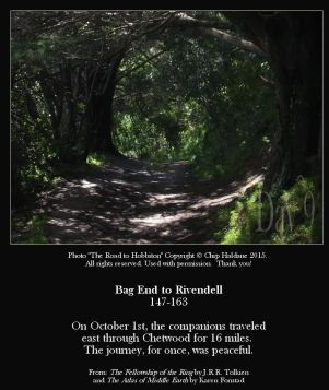 Bag End To Rivendell Miles 147-163 - The Road to Hobbiton - Chip Haldane