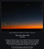 Bag End To Rivendell Miles 194-211 - Crescent Moon, Orange Sunset - Pixabay Volunteers