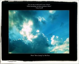 Gems 2.35 Amy Lowell Patience Poetry Sky Clouds Silver Lining