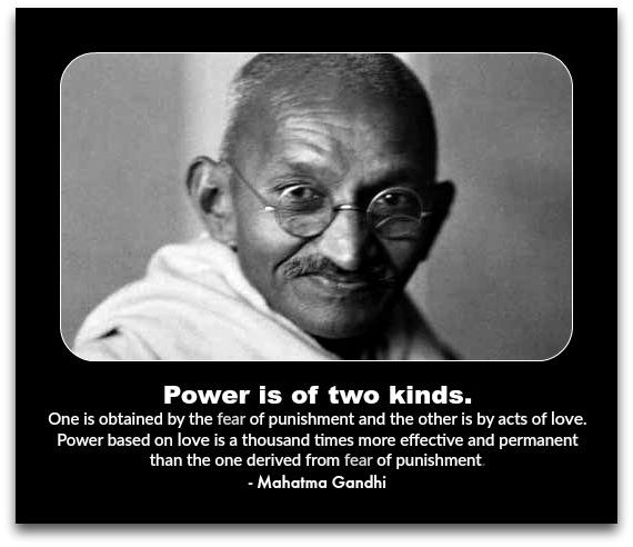 Love Fear Gandhi