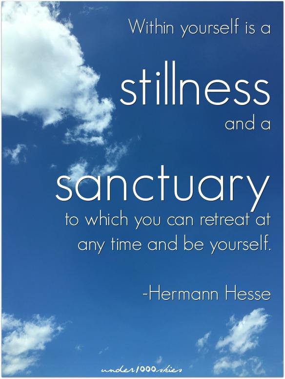 Herman Hesse stillness sancturary