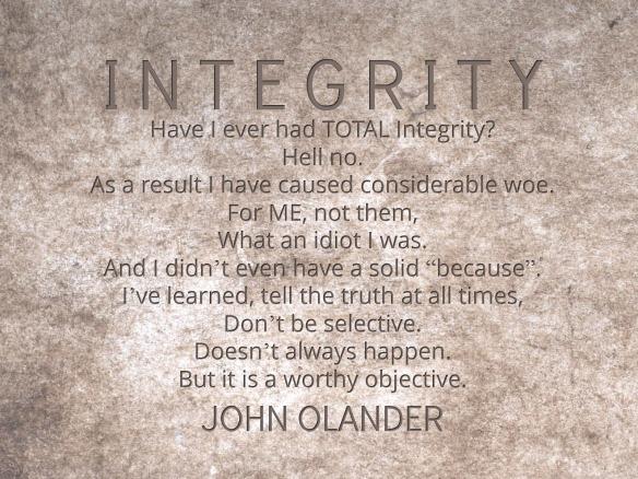 Integrity by John Olander