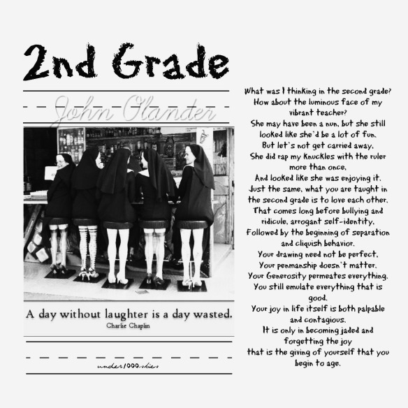 Gems 4.73 graphic design by Niki Flow Poem 2nd Grade by John Olander Nun photo - photographer unknown