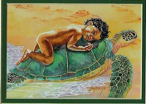 turtle girl artist uknown